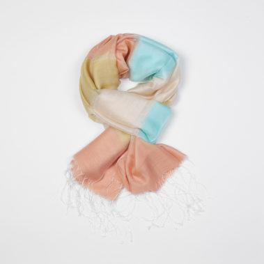 Foulard à rayure en soie