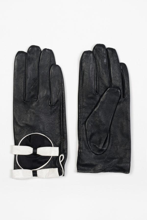 gant double noeud en cuir