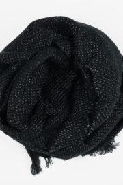 Echarpe noire brillante
