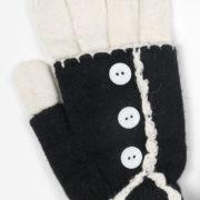 Gants mitaines noire