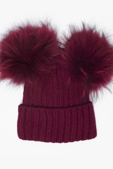 Bonnet double pompon
