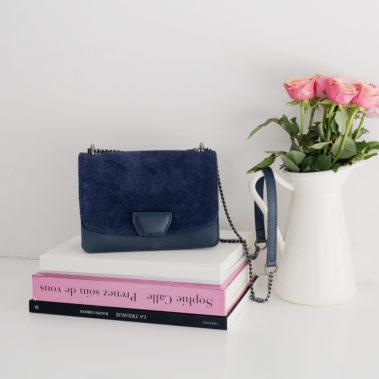 Petit sac à main bleu