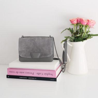 Petit sac à main gris