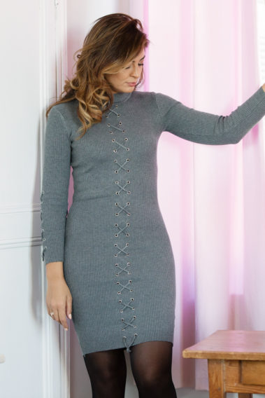 Robe maille moulante