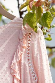 blouse volantée corail