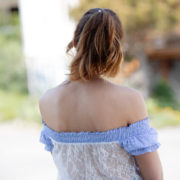 blouse dos dentelle