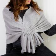 écharpe poncho gris