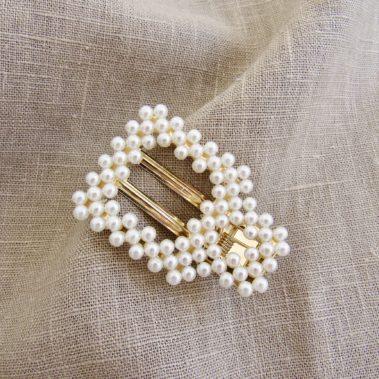 Barette à perles Lily