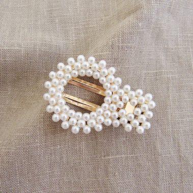 Barrette à perles Lysa