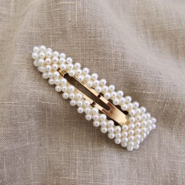 barettes à perles Ambre