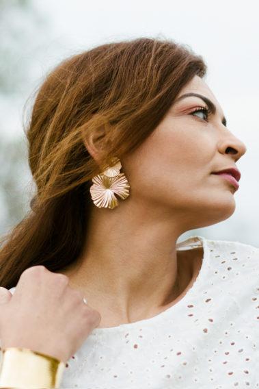 Boucle d'oreille fleur