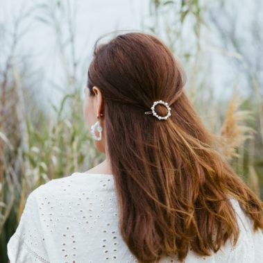 barrette perle ronde