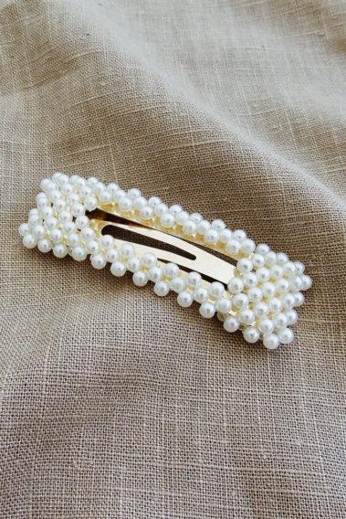 Barrette à perles Anna