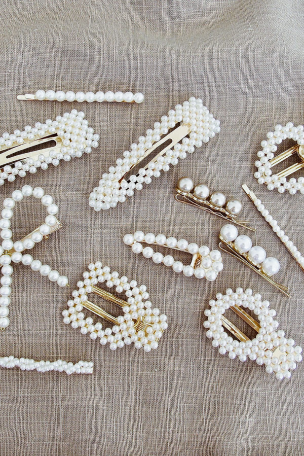 Barrette à perles