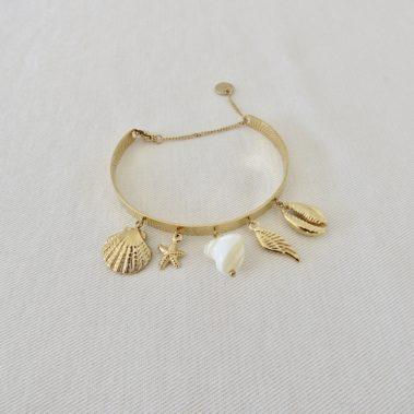 bracelet à berloques coquillages