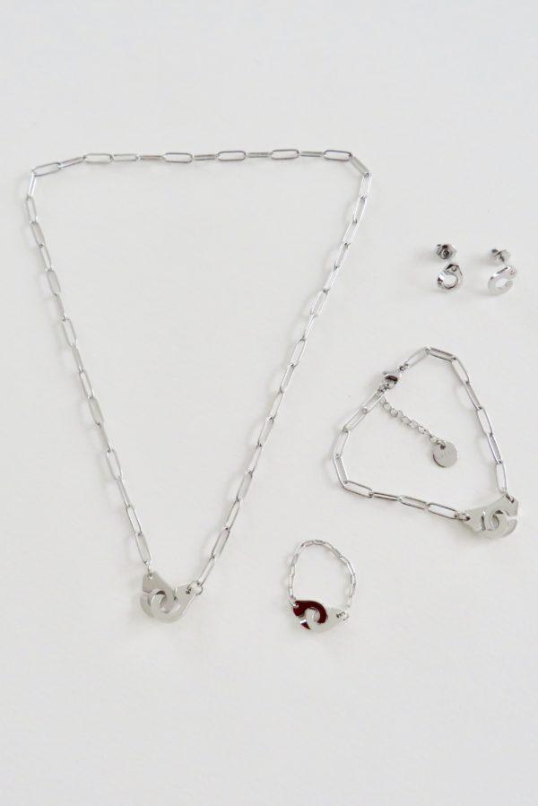 bijoux menottes argenté