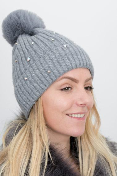 bonnet strass femme