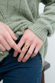 Bague anneau pendant