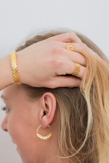 Bijoux acier doré