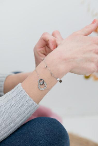 Bracelet acier argenté
