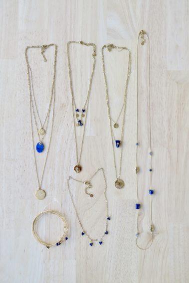 Bijoux acier bleu