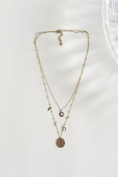 Collier double rond