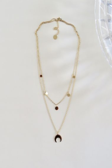 Collier double rond Moon