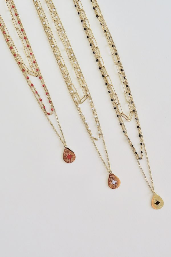 collier multi rond perlé